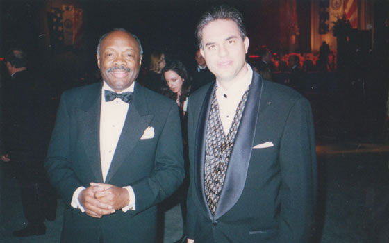 With San Francisco Mayor Willie Brown - invited guest at Presidential Inaugural Ball, Washington, D.C. - 1997