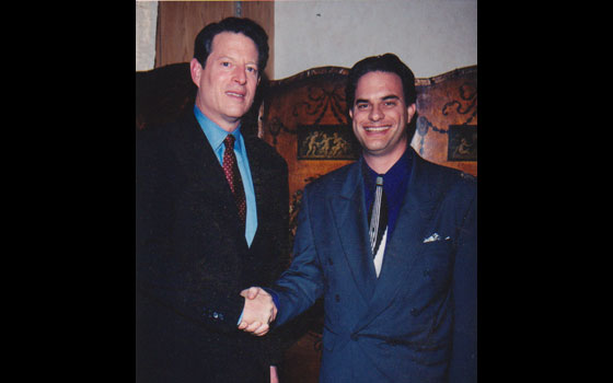 With Vice President Al Gore - at fundraiser congratulating him on his Presidential campaign nomination - 2000