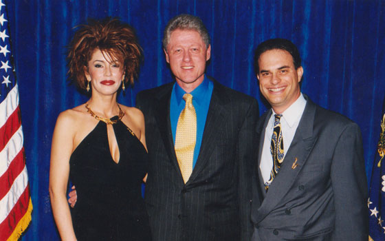 With President Clinton - co-organizer and event planning committee member for Los Angeles fundraiser - 2000