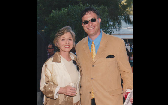 With U.S. Senator Barbara Boxer - attending fundraiser at the home of actress Catherine Bach - 2004