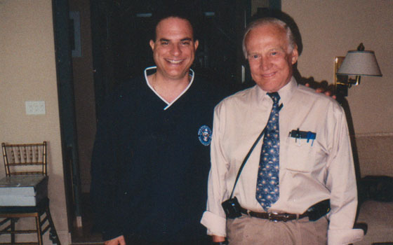 With Apollo 11 astronaut Buzz Aldrin - invited guest at his home to discuss new marketing & licensing opportunities - 2007