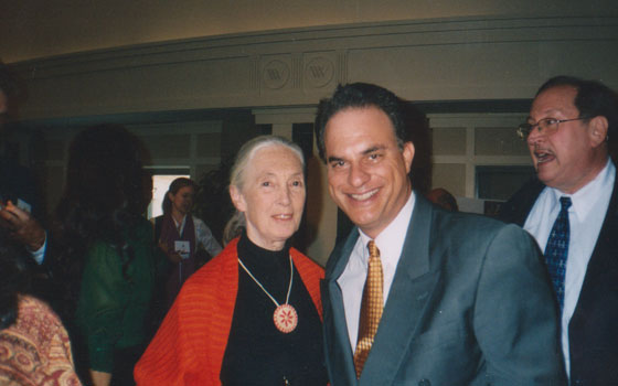 With Jane Goodall - invited guest/participant at Children Uniting Nations Conference - Washington, D.C. - 2007