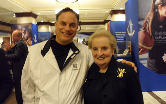 With Madeleine Albright, former U.N. Ambassador and Secretary of State - Clinton Global Initiative conference - 2011