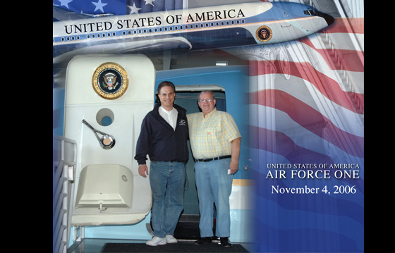 Aboard Air Force One with former White House visiting chef - 2006