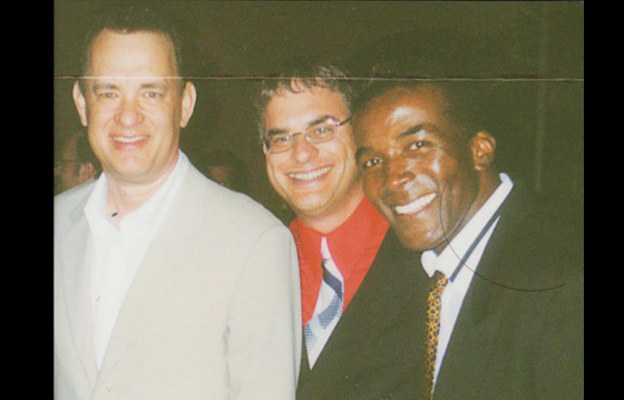 With Tom Hanks and acclaimed songwriter/composer Howard McCray - Hollywood film premiere of Lady Killers  - 2004