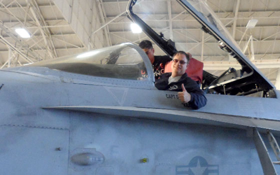 Birthday present – aboard the F-18 Super Hornet – finest super carrier fighter jet in the world - 2012