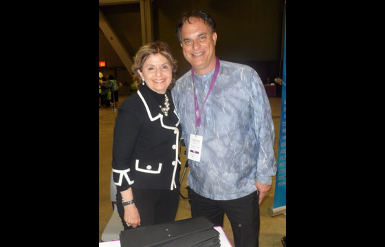 With longtime acquaintance and super lawyer Gloria Allred - California Women's Conference - 2012