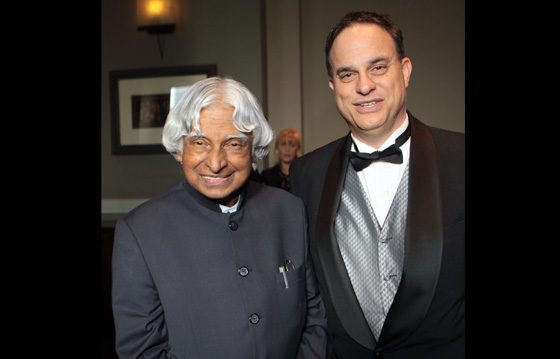 With former President of India Dr. A P J Kalam - welcoming him to National Space Society gala dinner - 2013
