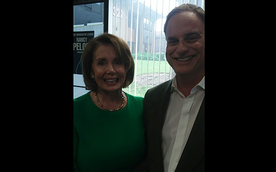 With US House of Representatives Democratic Leader Nancy Pelosi - 2 weeks before Election Day 2016
