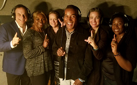 In Recording Studio - Contributing Tracks For About-To-Be-Grammy Nominated Song 'We Are One' - 2017