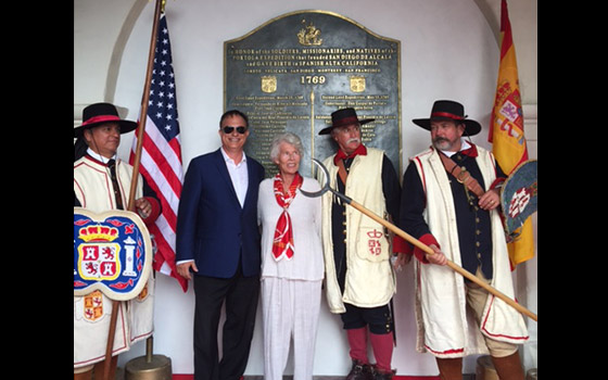 With Descendants of California's Wealthiest Founding Families - Dedication of California's Birthplace - Presidio, San Diego - 2017